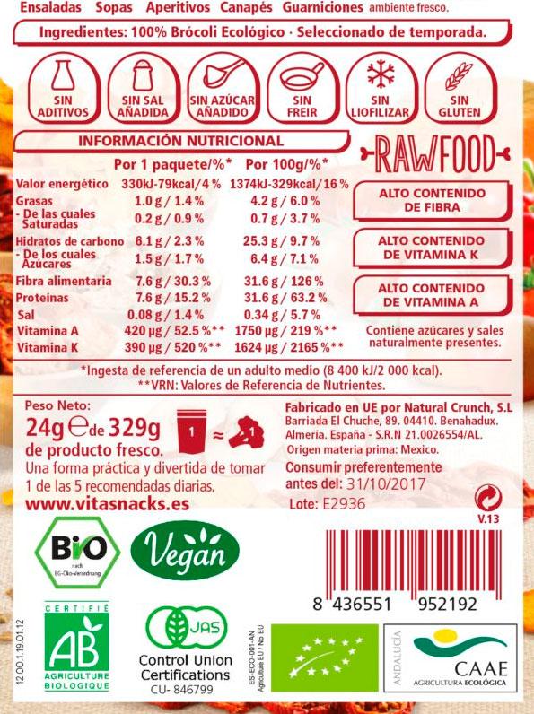 snack de brocoli crujiente
