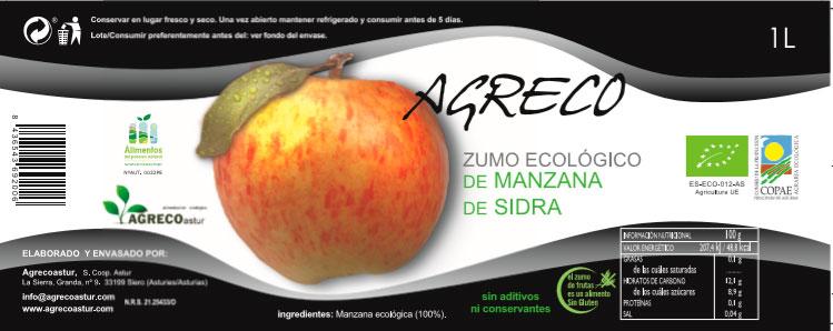 zumo de manzana agreco etiqueta
